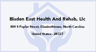 Bladen East Health And Rehab, Llc