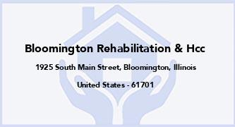 Bloomington Rehabilitation & Hcc