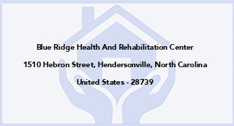 Blue Ridge Health And Rehabilitation Center