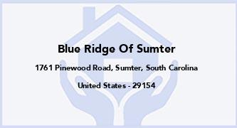 Blue Ridge Of Sumter