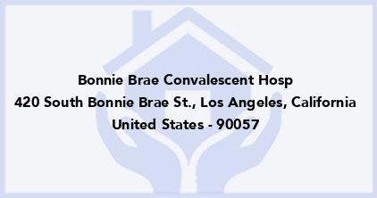 Bonnie Brae Convalescent Hosp