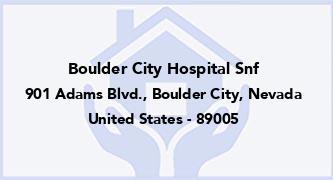 Boulder City Hospital Snf