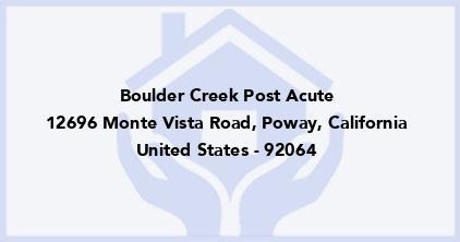 Boulder Creek Post Acute