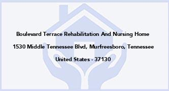 Boulevard Terrace Rehabilitation And Nursing Home