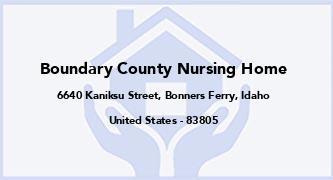 Boundary County Nursing Home