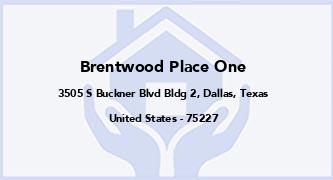 Brentwood Place One