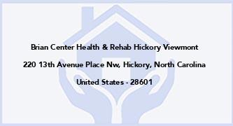 Brian Center Health & Rehab Hickory Viewmont