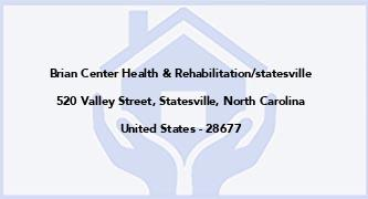 Brian Center Health & Rehabilitation/Statesville