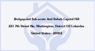 Bridgepoint Sub-Acute And Rehab Capitol Hill