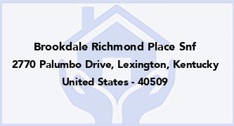 Brookdale Richmond Place Snf