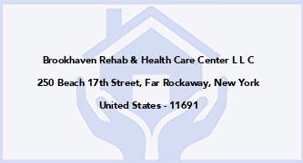 Brookhaven Rehab & Health Care Center L L C