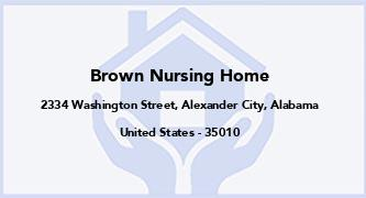 Brown Nursing Home