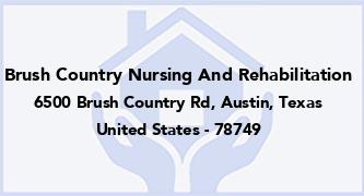 Brush Country Nursing And Rehabilitation
