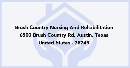 Brush Country Nursing And Rehabilitation