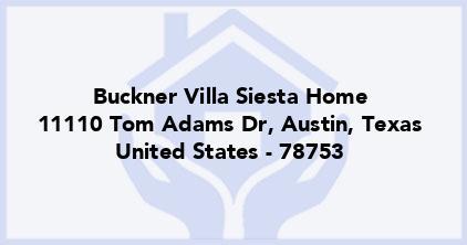 Buckner Villa Siesta Home