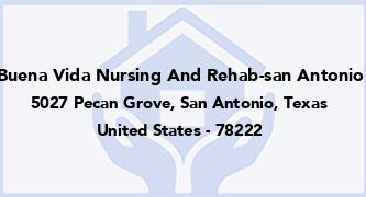 Buena Vida Nursing And Rehab-San Antonio