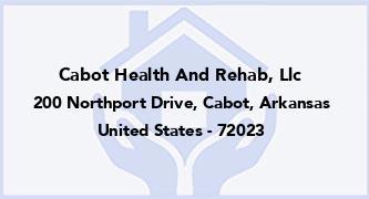 Cabot Health And Rehab, Llc