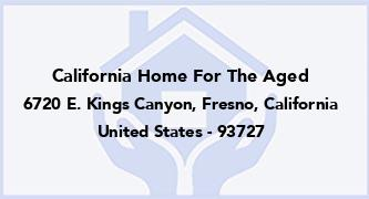 California Home For The Aged