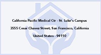 California Pacific Medical Ctr - St. Luke'S Campus