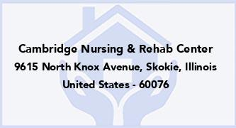 Cambridge Nursing & Rehab Center