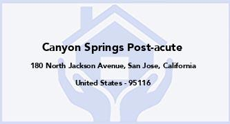 Canyon Springs Post-Acute