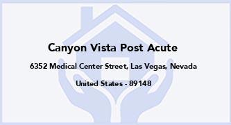 Canyon Vista Post Acute