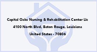 Capital Oaks Nursing & Rehabilitation Center Llc