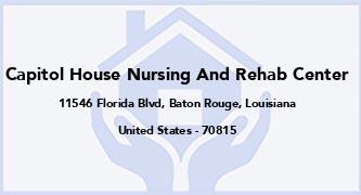Capitol House Nursing And Rehab Center