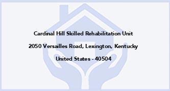Cardinal Hill Skilled Rehabilitation Unit