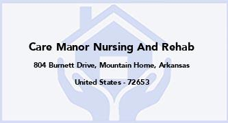 Care Manor Nursing And Rehab