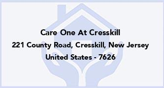 Care One At Cresskill
