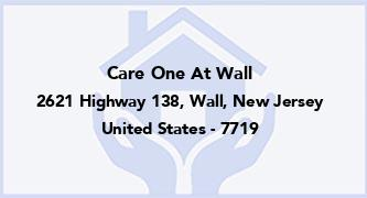Care One At Wall