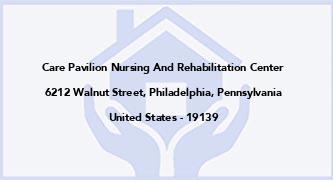 Care Pavilion Nursing And Rehabilitation Center