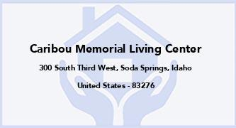 Caribou Memorial Living Center