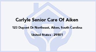 Carlyle Senior Care Of Aiken