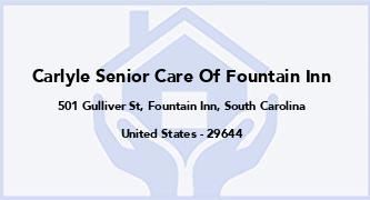 Carlyle Senior Care Of Fountain Inn