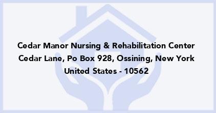 Cedar Manor Nursing & Rehabilitation Center