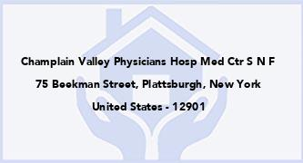 Champlain Valley Physicians Hosp Med Ctr S N F