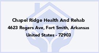 Chapel Ridge Health And Rehab