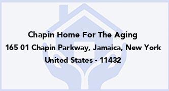 Chapin Home For The Aging
