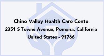 Chino Valley Health Care Cente