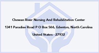 Chowan River Nursing And Rehabilitation Center