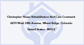 Christopher House Rehabilitation And Care Communit