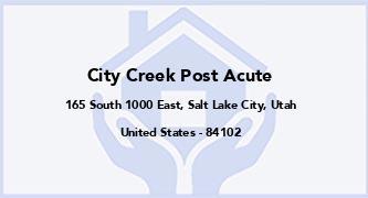 City Creek Post Acute