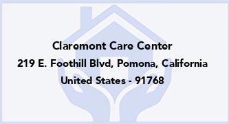 Claremont Care Center