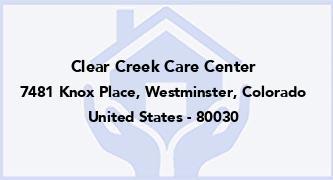 Clear Creek Care Center