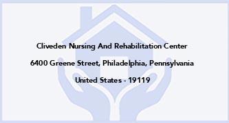 Cliveden Nursing And Rehabilitation Center