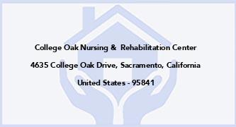 College Oak Nursing &  Rehabilitation Center