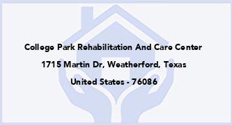 College Park Rehabilitation And Care Center