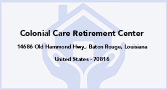 Colonial Care Retirement Center